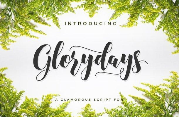Glorydays Cursive Font