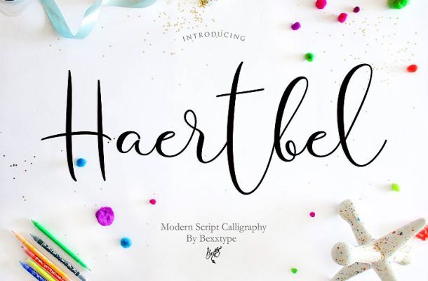 Haertbel Calligraphy Font