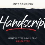 Handscript Brush Font