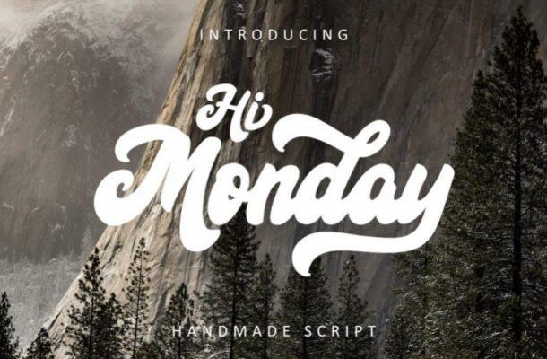 Hi Monday Script Font