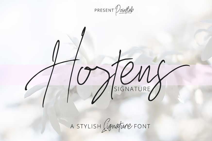 Hostens Signature Font-1