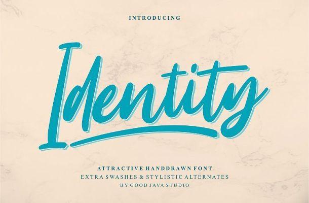 Identity Script Font