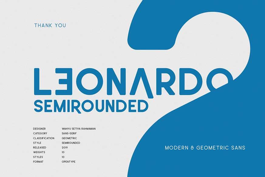 Leonardo SemiRounded Font Family-1
