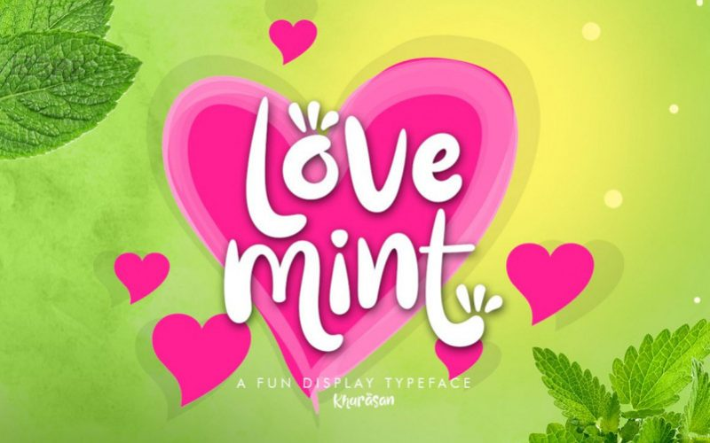 Love Mint Display Font