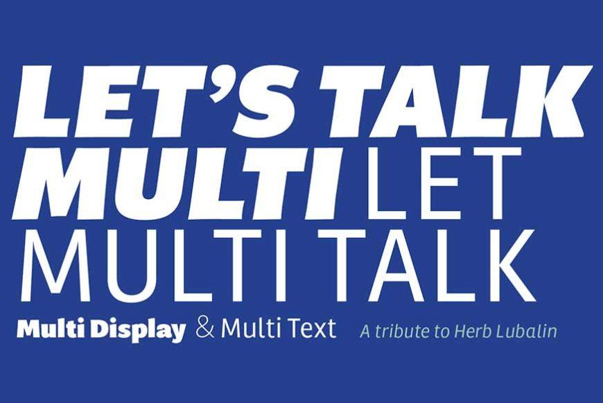 Multi Font Family-2