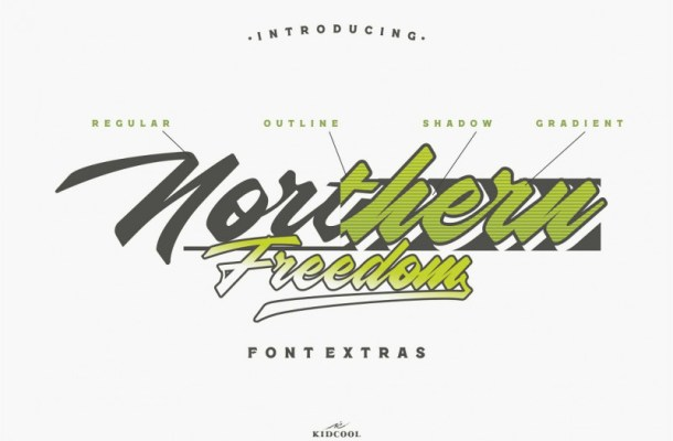 Northern Freedom Script Font