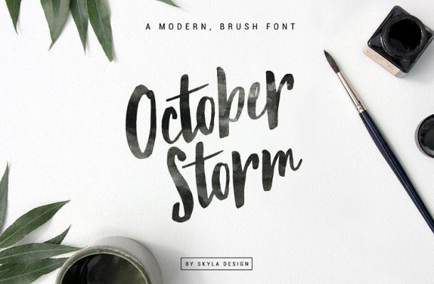 October Storm Brush Font