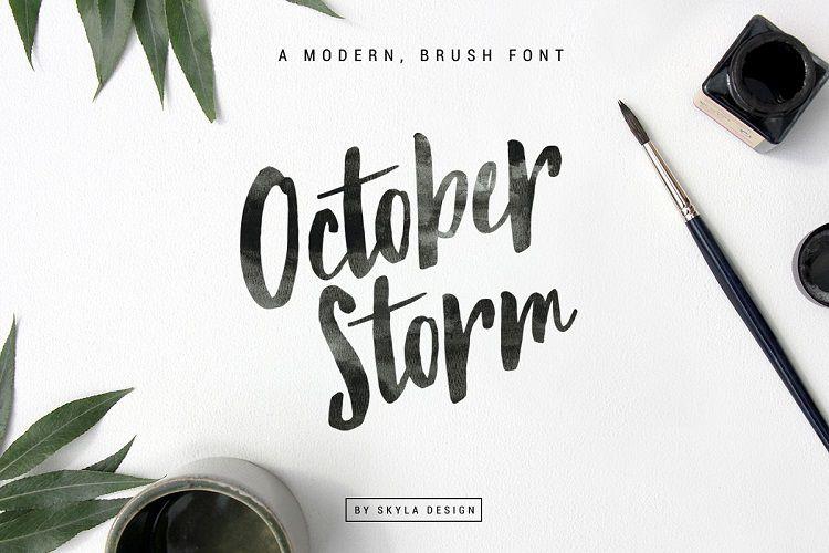 October Storm Brush Font