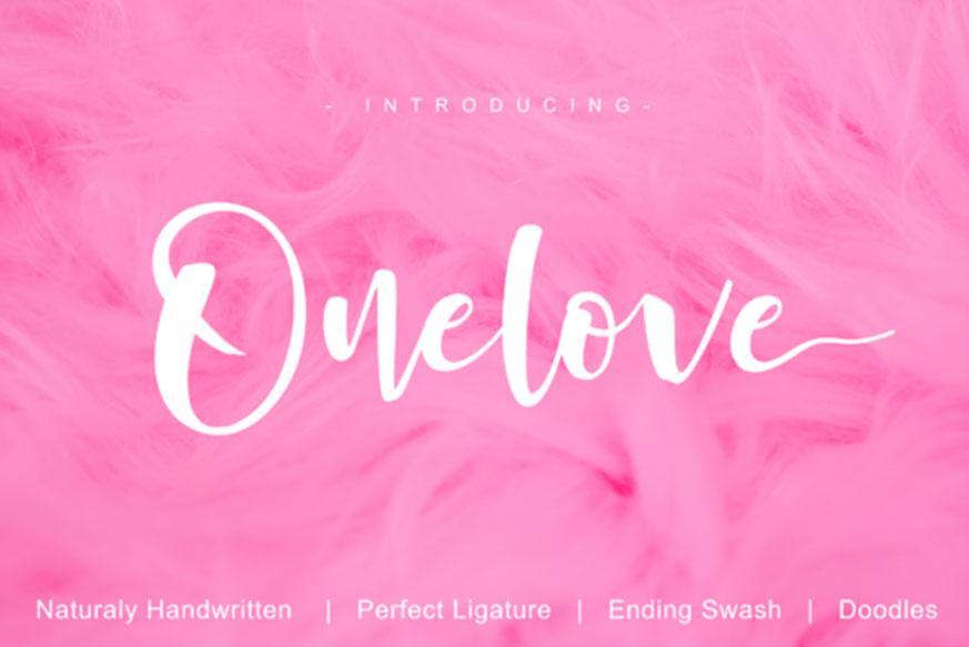 Onelove Font-1