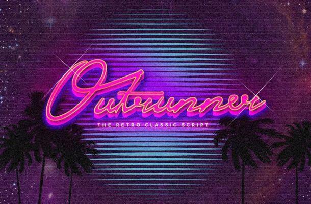 Outrunner Retro Script Font