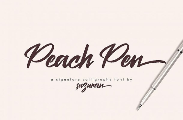 Peach Pen Calligraphy Font