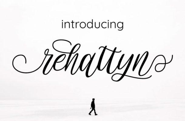 Rehattyn Calligraphy Font