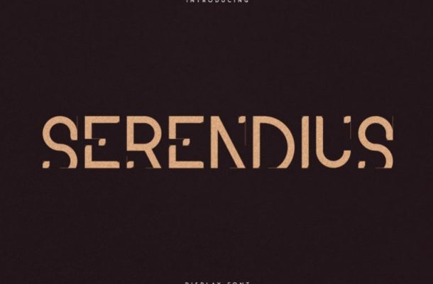 Serendius Display Font