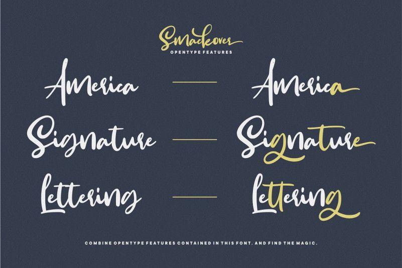 Smackover Handwritten Font-2