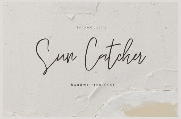 Sun Catcher Handwritten Font