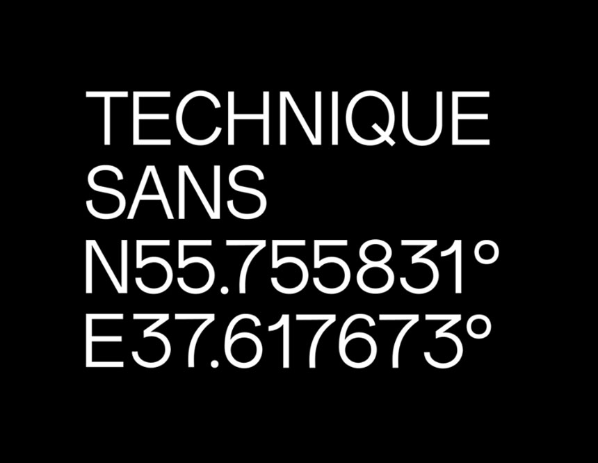 Technique Sans Serif Font