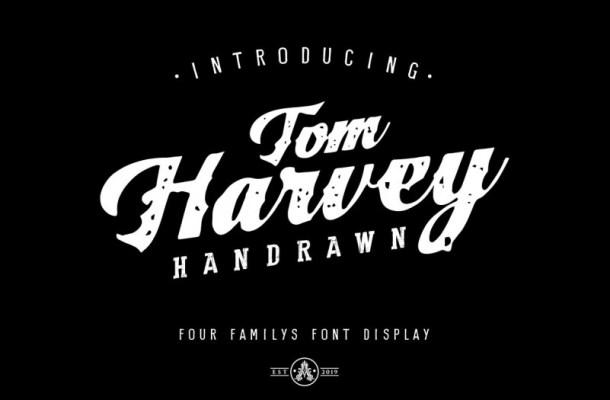 Tom Harvey Display Font