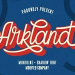 Arkland Monoline Script Font