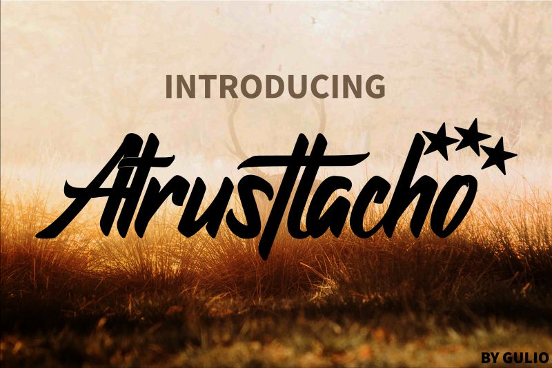 Atrusttacho Awesome Font-1