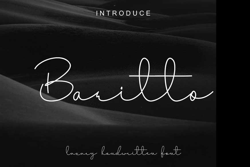 Baritto Handwritten Font-1