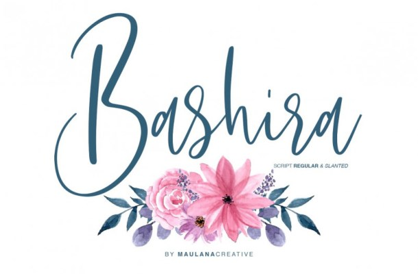 Bashira Calligraphy Font