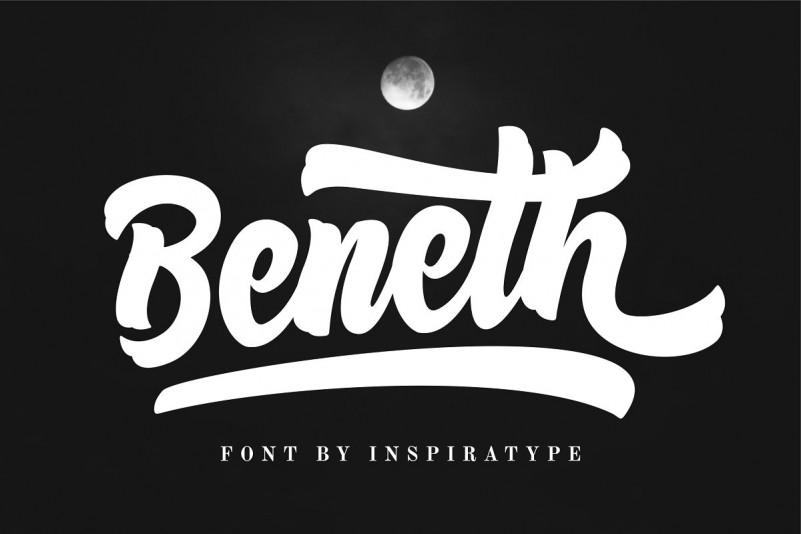Beneth Bold Script Font-1