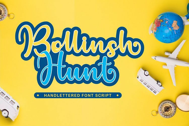 Bollinsh Hunt Script Font-1