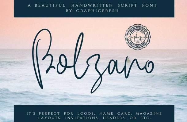 Bolzano Script Font