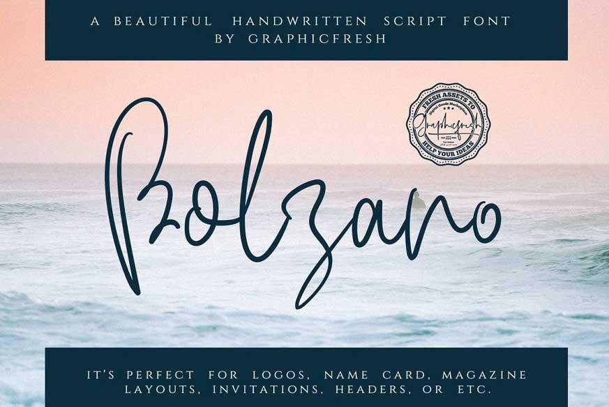 Bolzano Script Font-1