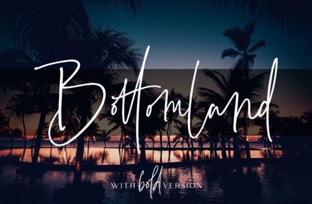 Bottomland Signature Font