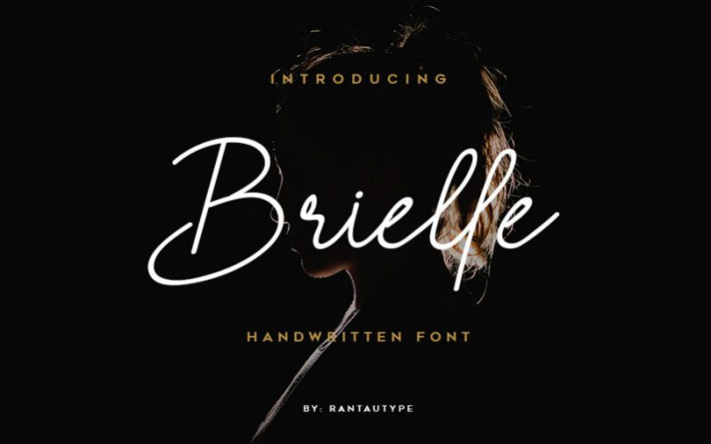 Brielle Handwritten Free Font-1