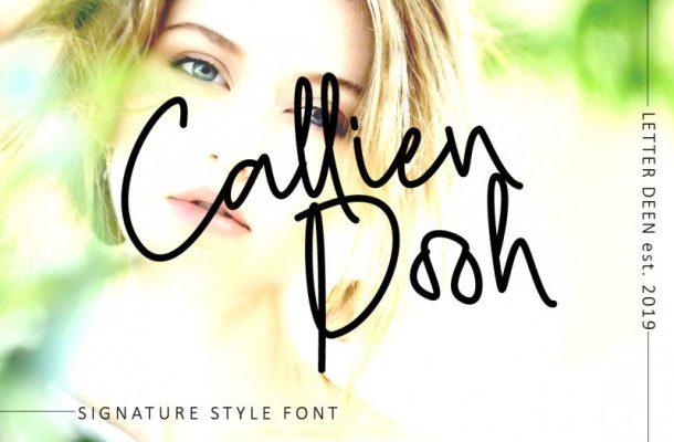 Callien Pooh Signature Font