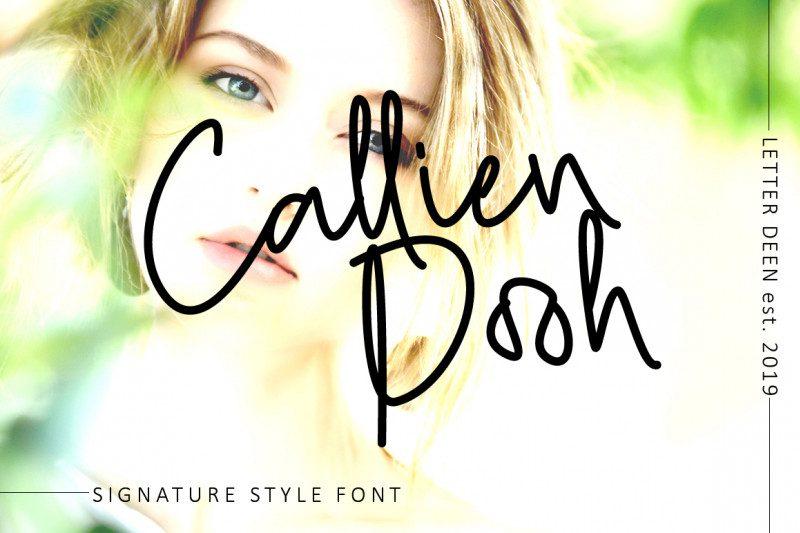 Callien Pooh Signature Font-1