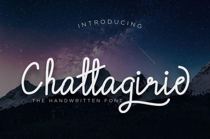 Chattagirie Handwritten Font-1