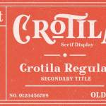 Crotila Serif Display Font