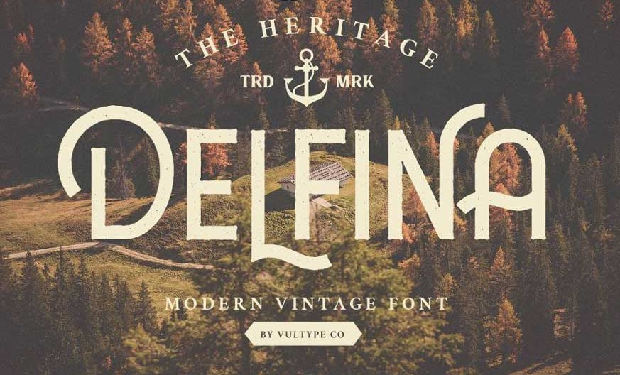 DELFINA Vintage Font-1