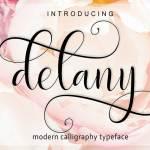 Delany Script Font