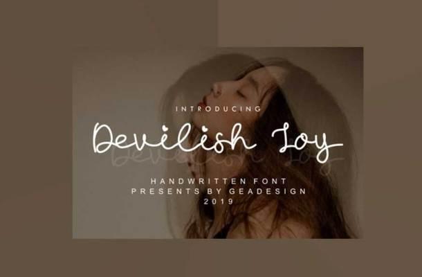 Devilish Joy Font