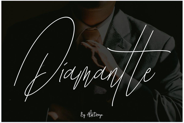Diamante Signature Font-1