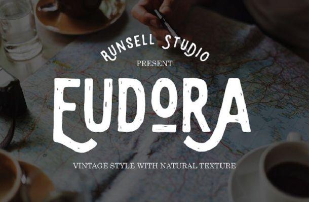 Eudora Vintage Label Font