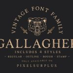 Gallagher Vintage Font