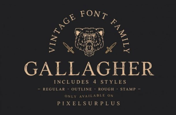 Gallagher Vintage Font