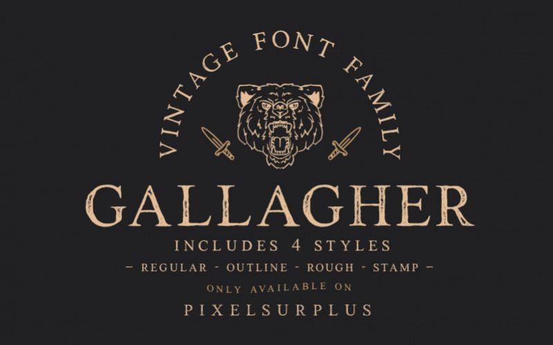 Gallagher Vintage Font-1