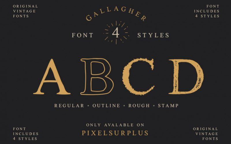 Gallagher Vintage Font-2