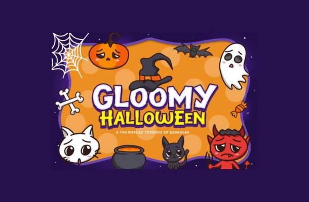 Gloomy Halloween Font-1