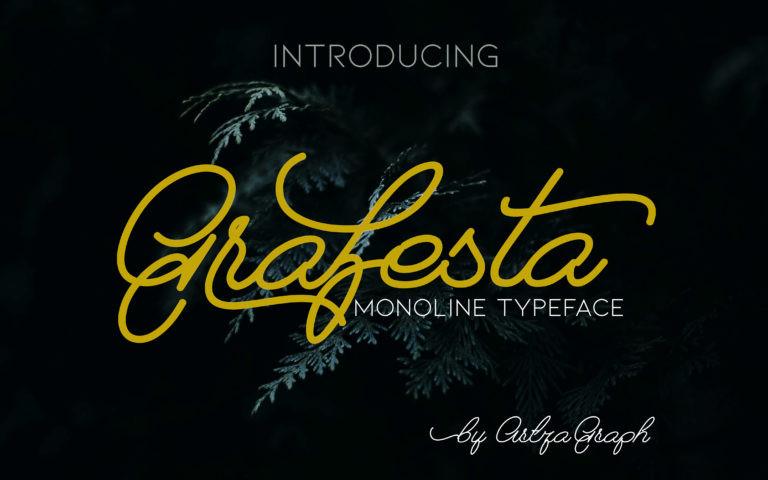 Grafesta Monoline Script Font-1