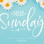 Hello Sunday Font Duo