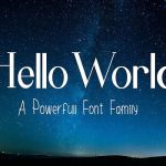 Hello World Font