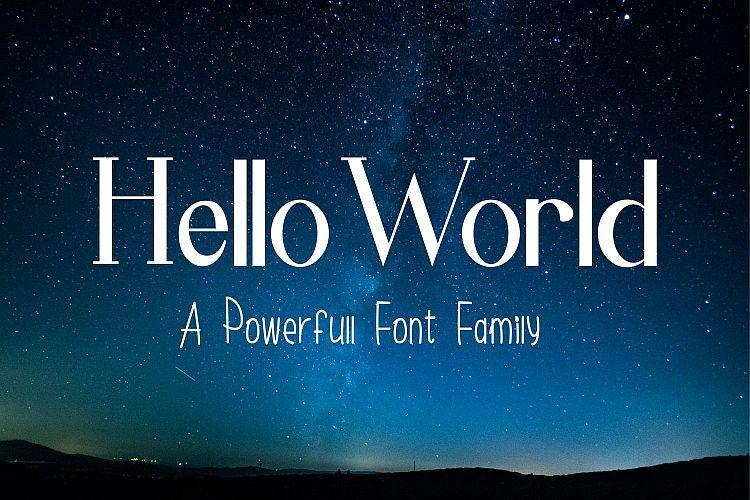 Hello World Font-1