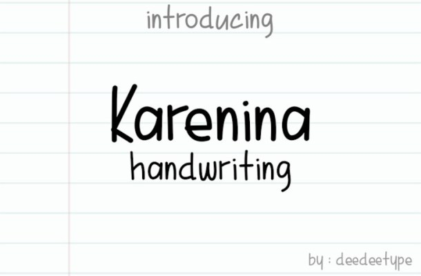 Karenina Handwritten Font